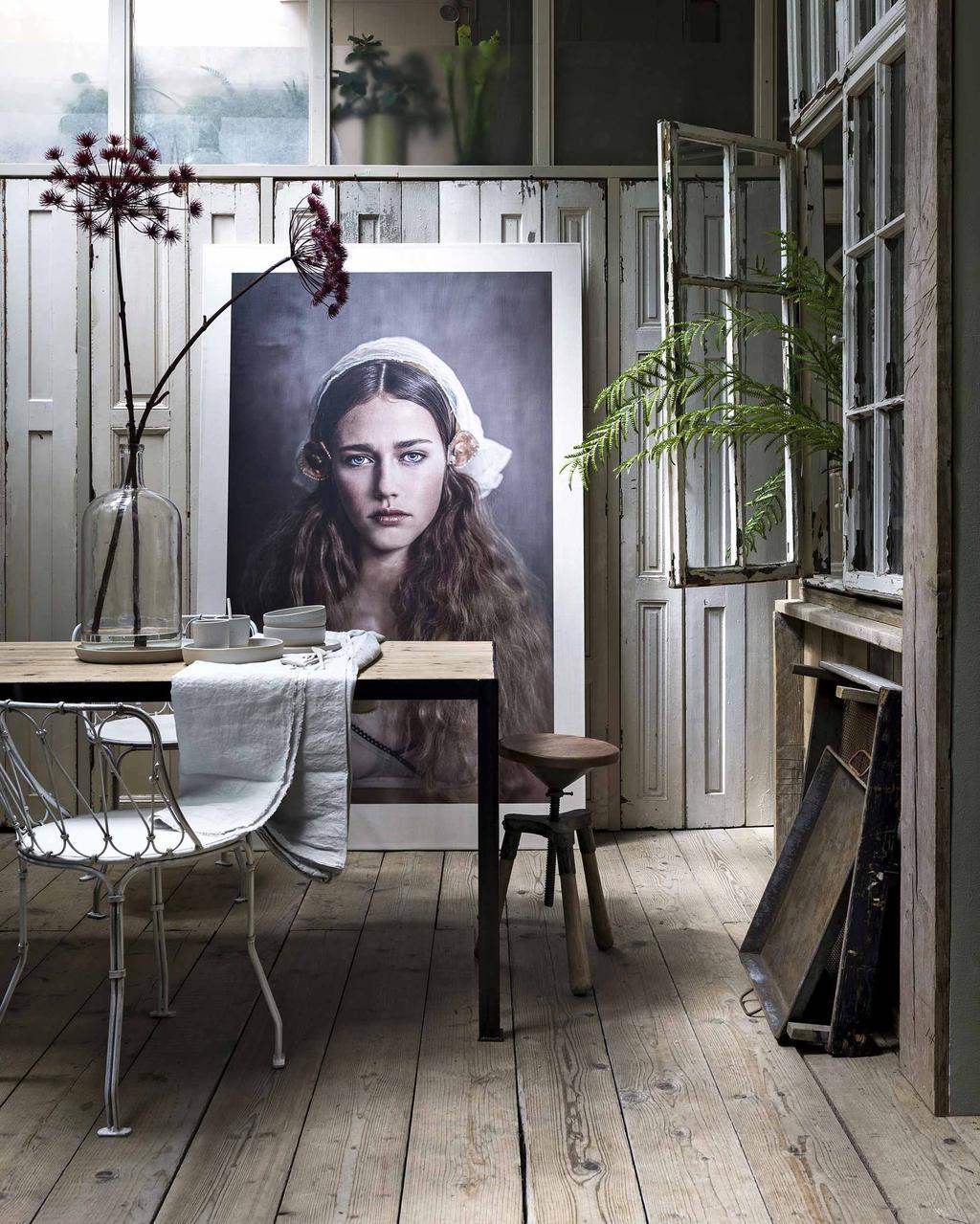 Poster - Eettafel - Oase van rust - Poster