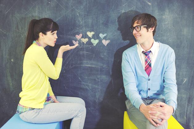 schoolbord liefde