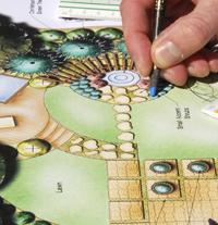 Tuin-ontwerptekening