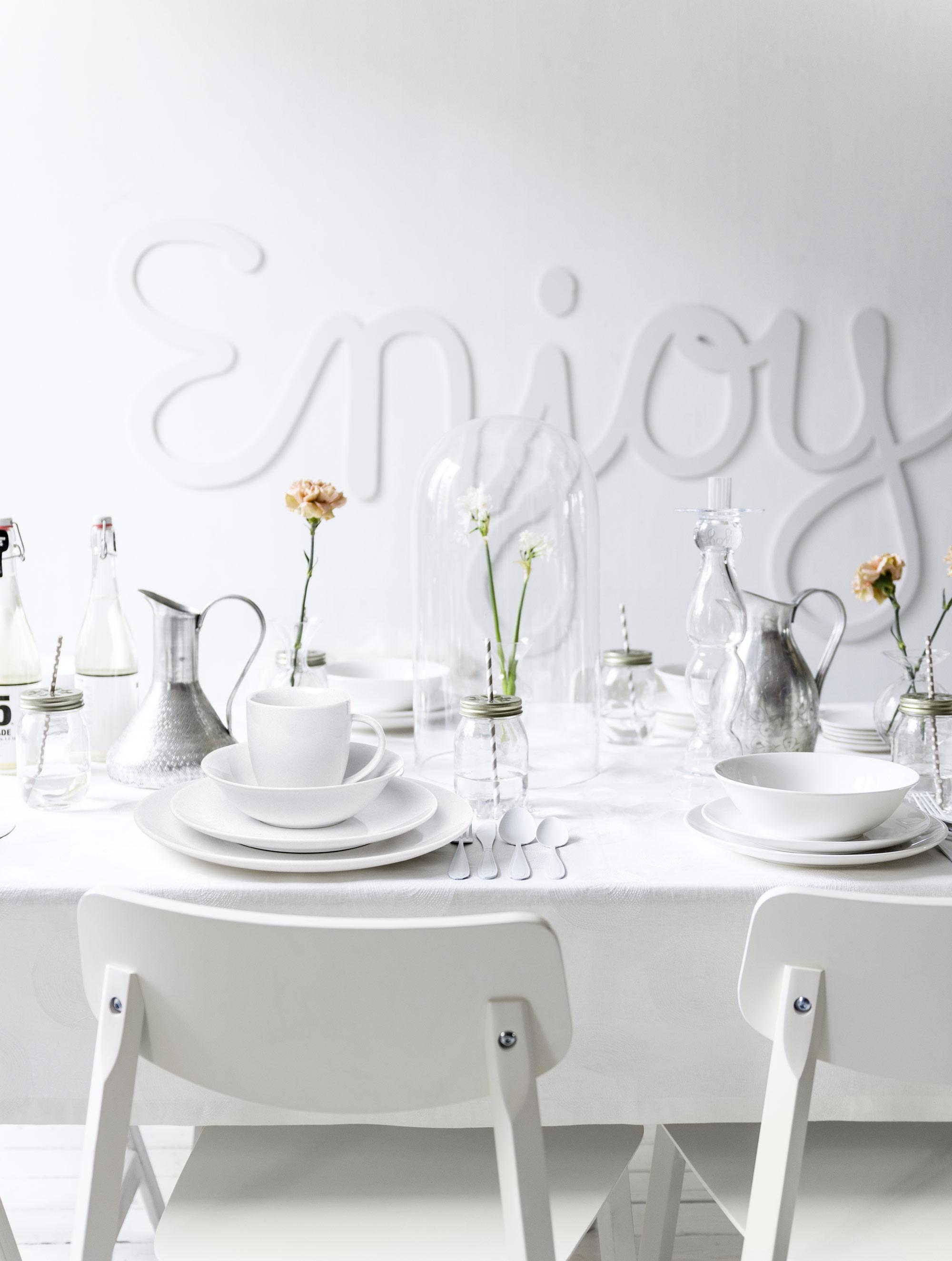 eettafel-servies-wit