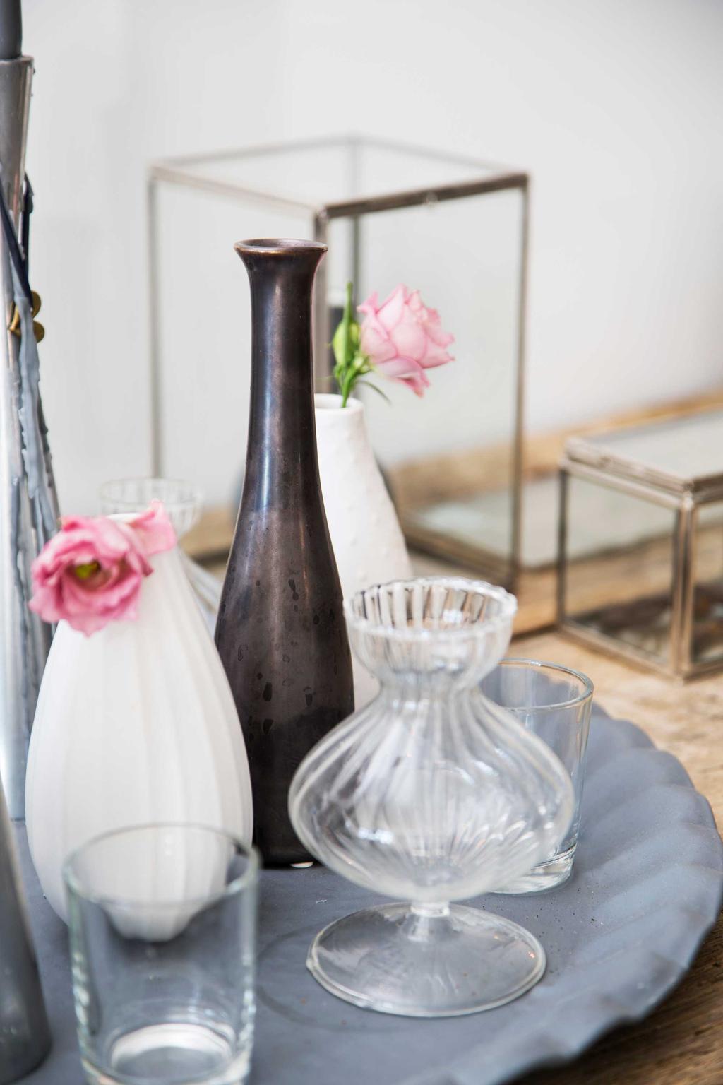 potjes glas bloemen