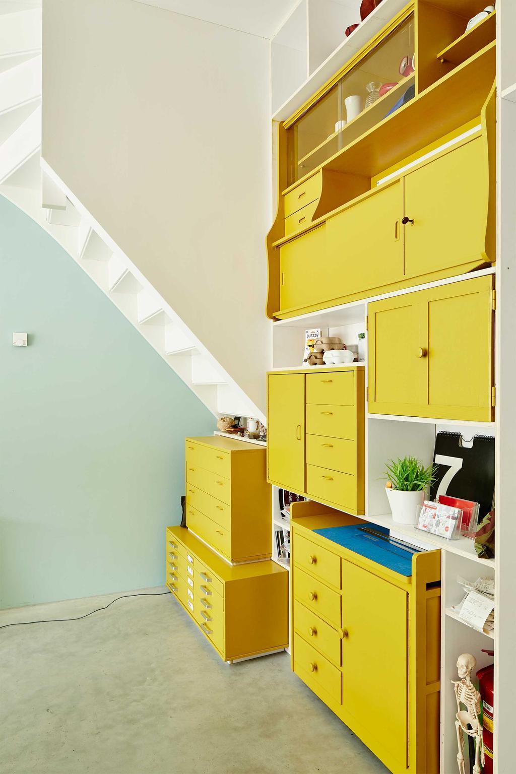 gele kastjes