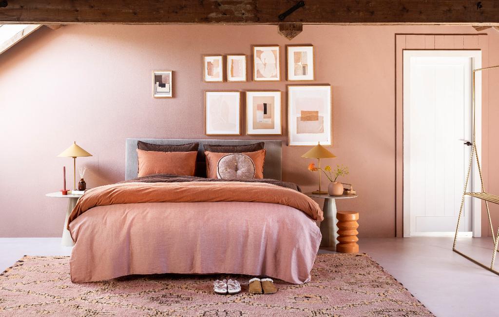 vtwonen 10-2020 swiss sense | terra tinten slaapkamer cocoonen