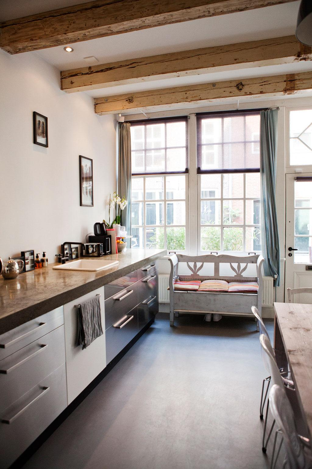 keuken in stadsmonument in amsterdam