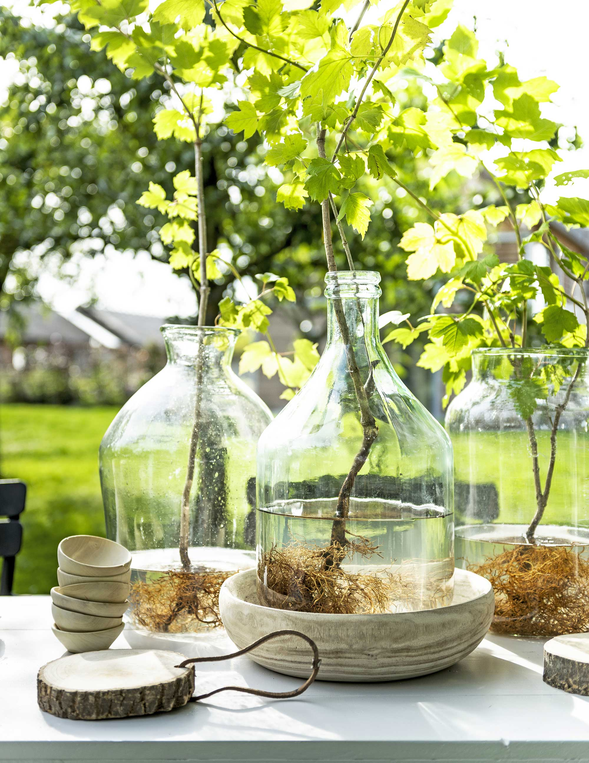table verte vase diy