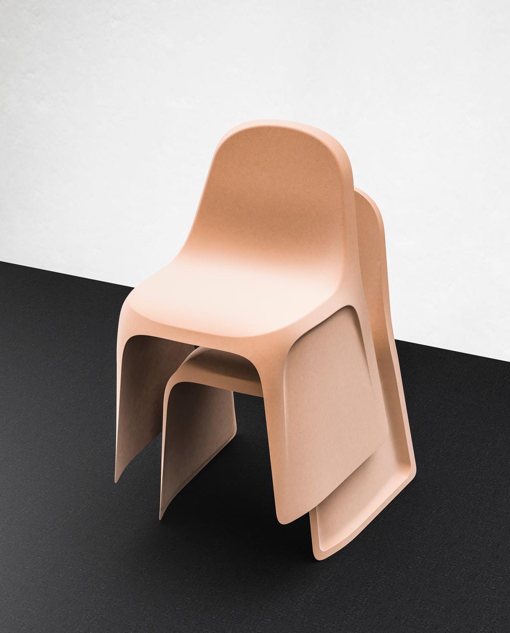 stoelen gemaakt van kraft papier