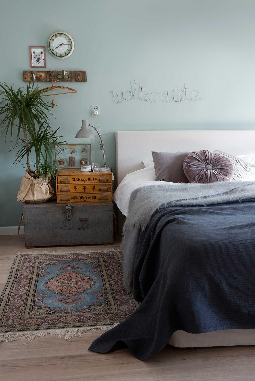 blauwe slaapkamer