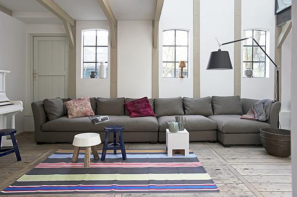 Leefbank in woonkamer