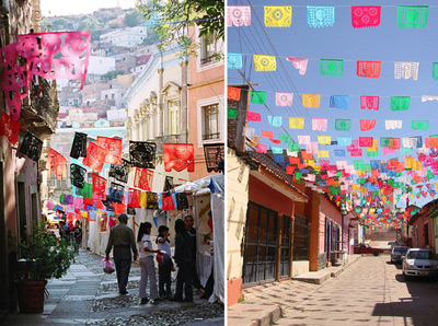 Papel Picado: traditionele kleurrijke decoratie in Mexico - ral kleuren