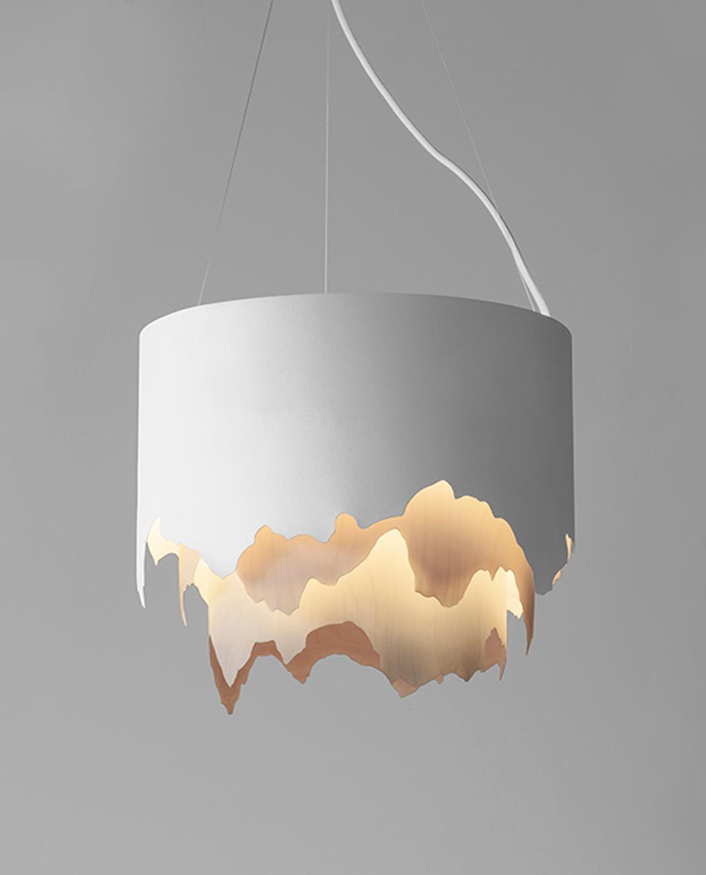 vtwonen studentdesign | hanglamp berglandschap scandinavisch design