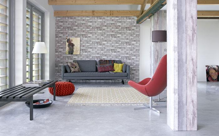 sloophoutbehang baksteenbehang