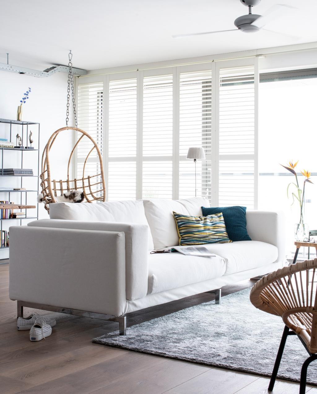 vtwonen bk special 03-2020 | binnenkijken Almere woonkamer met witte bank
