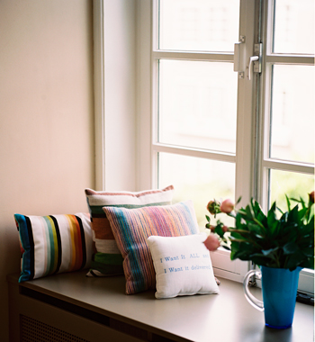 vensterbank zitplek