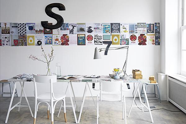 pagina's op de muur