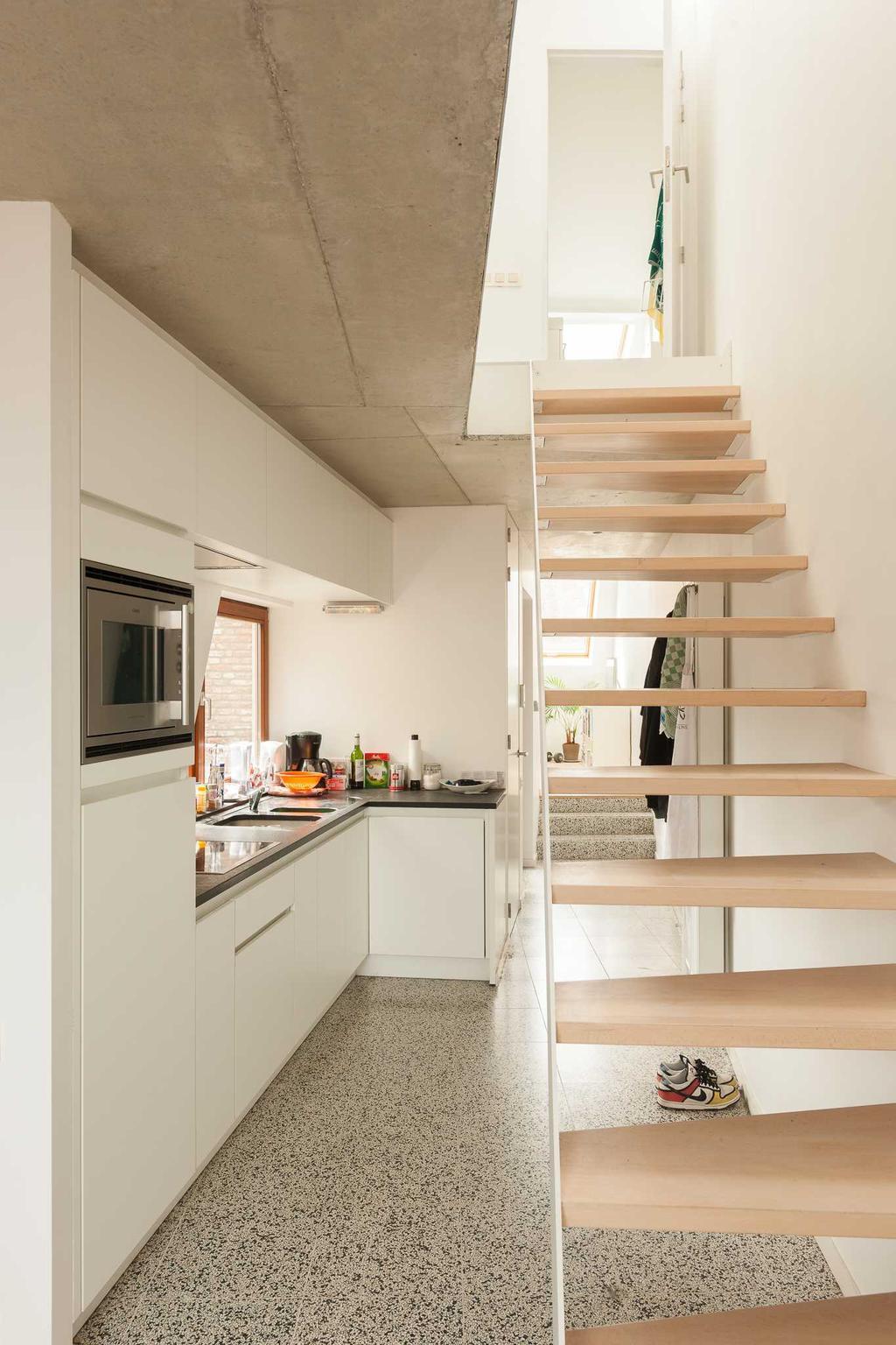 trap keuken beton