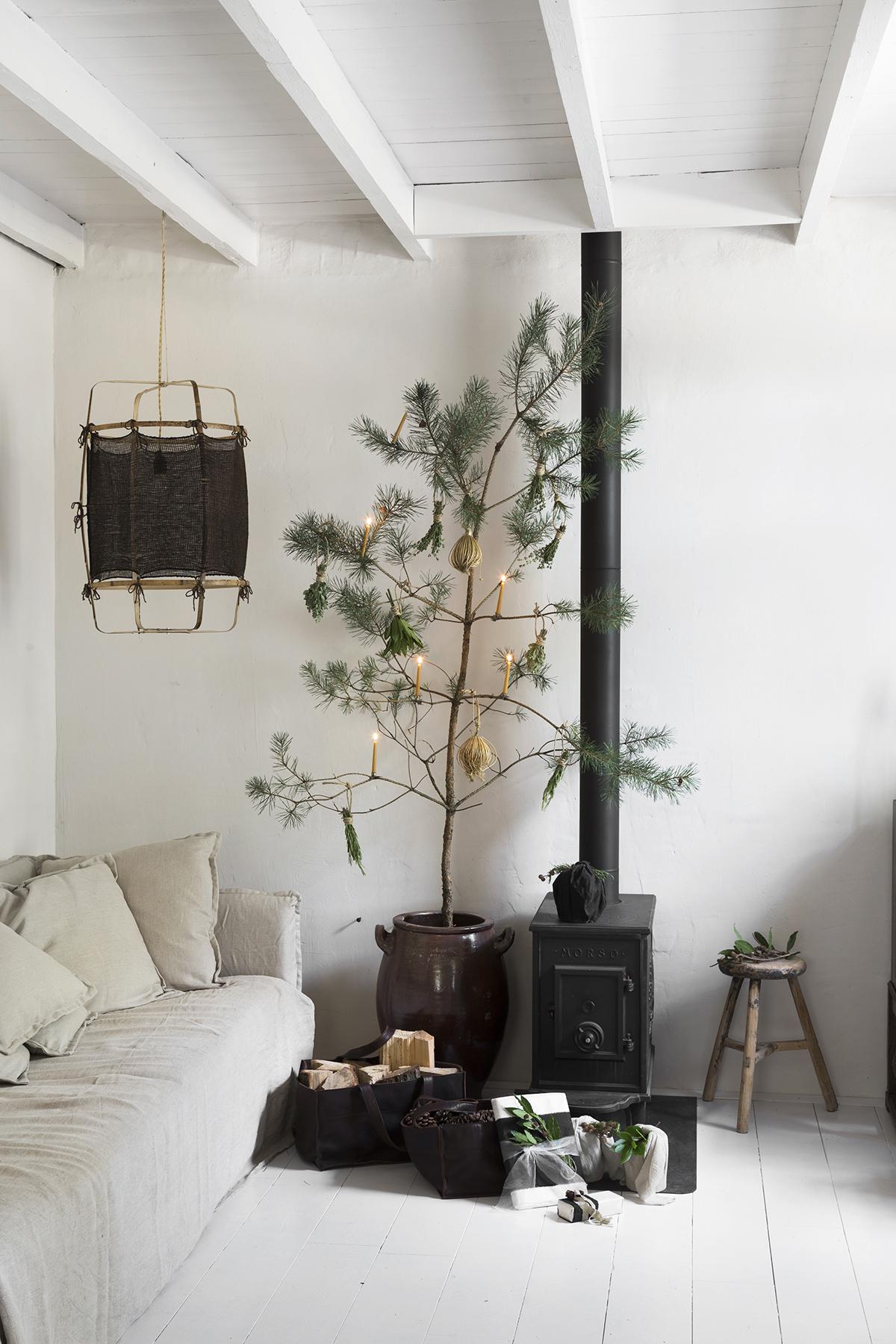 kerstboom alternatief tak in pot
