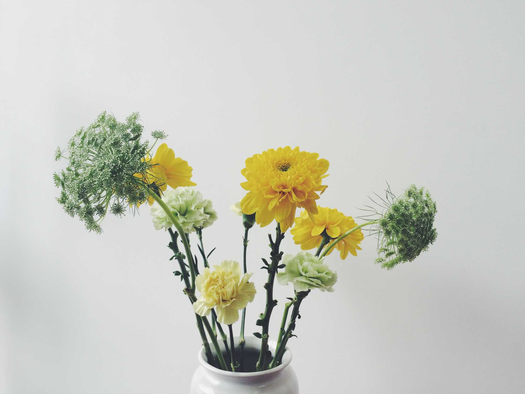 chrysant anjers dille paasboeket
