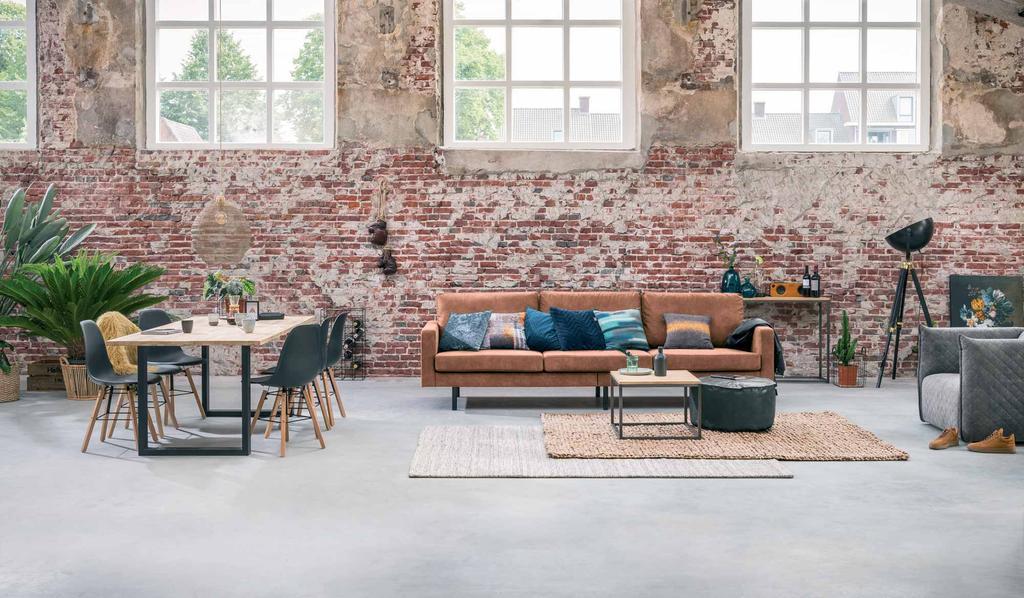 Woonkamer - Bakstenen muur - Leen Bakker - Industrieel