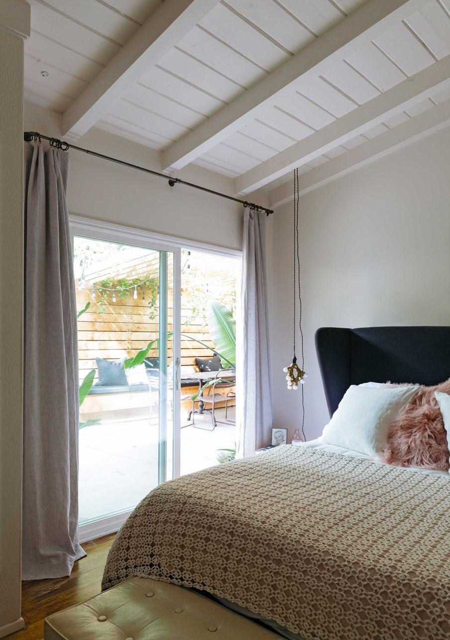 chambre couvre lit blanc