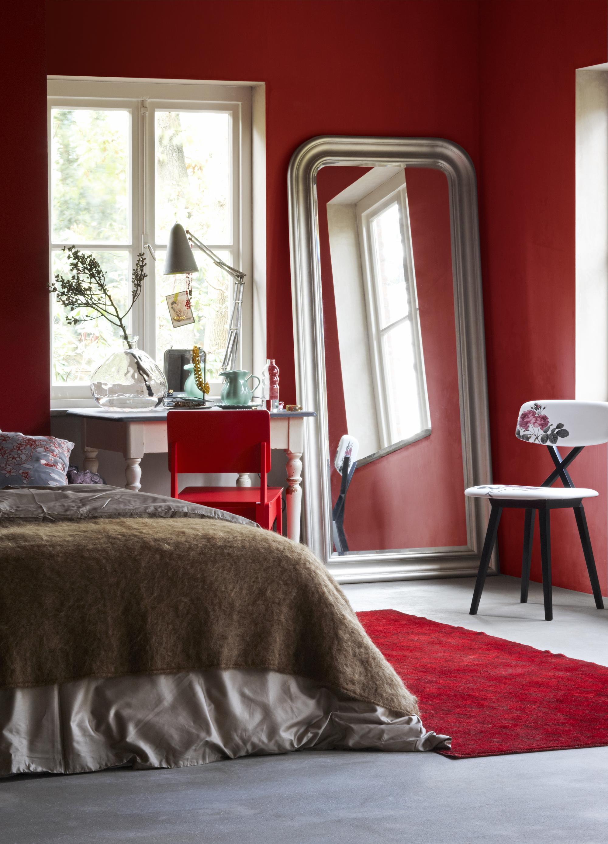 rode slaapkamer - rood in huis