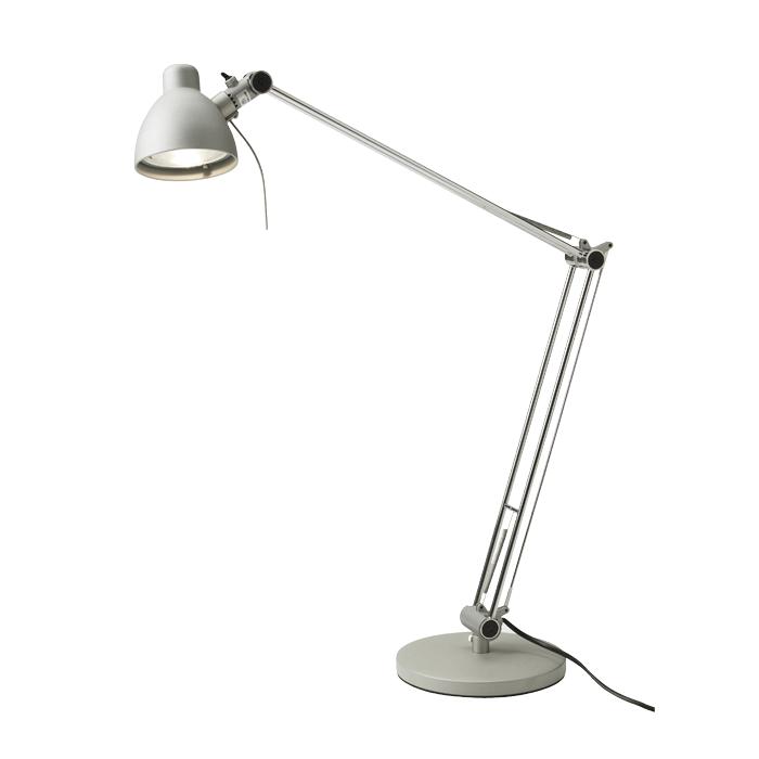 Zilverkleurige bureaulamp