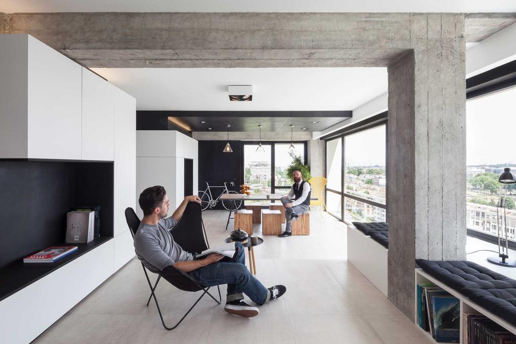 beton zwart wit blokken