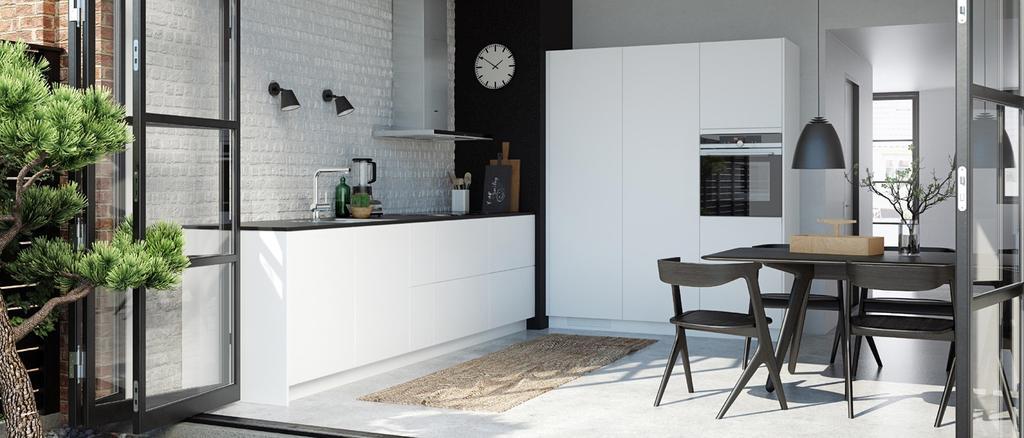 cuisine scandinave noir et blanc