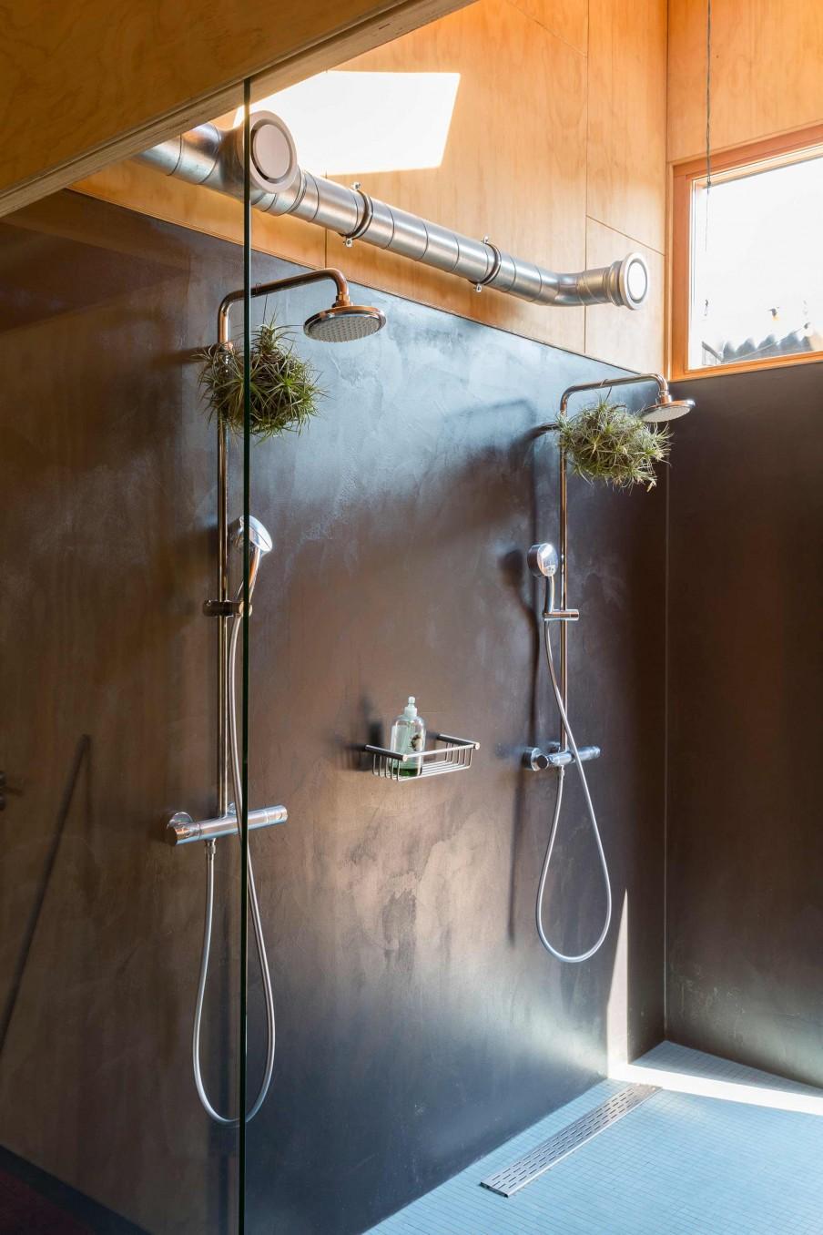 salle de bains bois