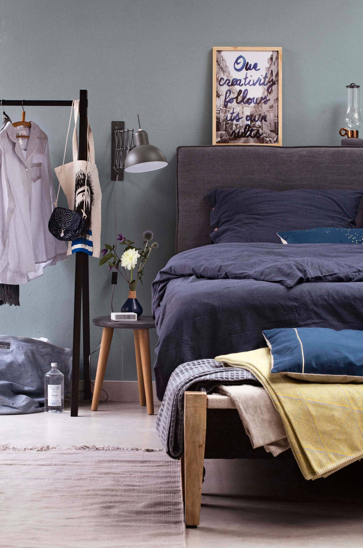 slaapkamer met plaids