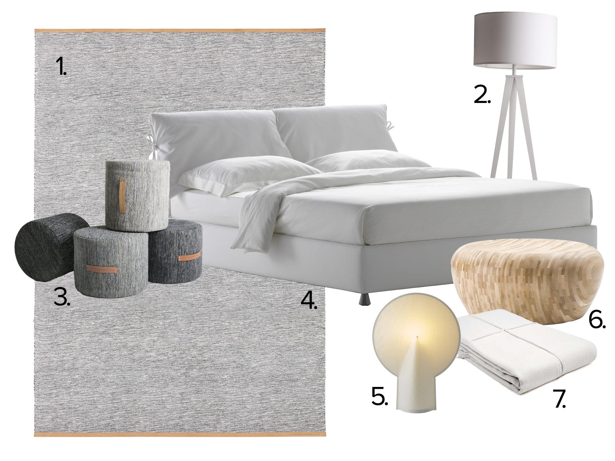 slaapkamer grijs wit