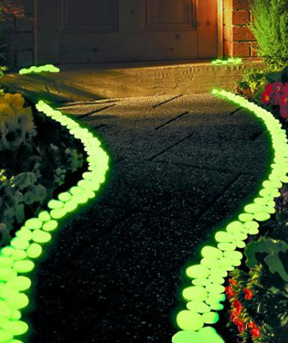 Glow in the dark in de tuin