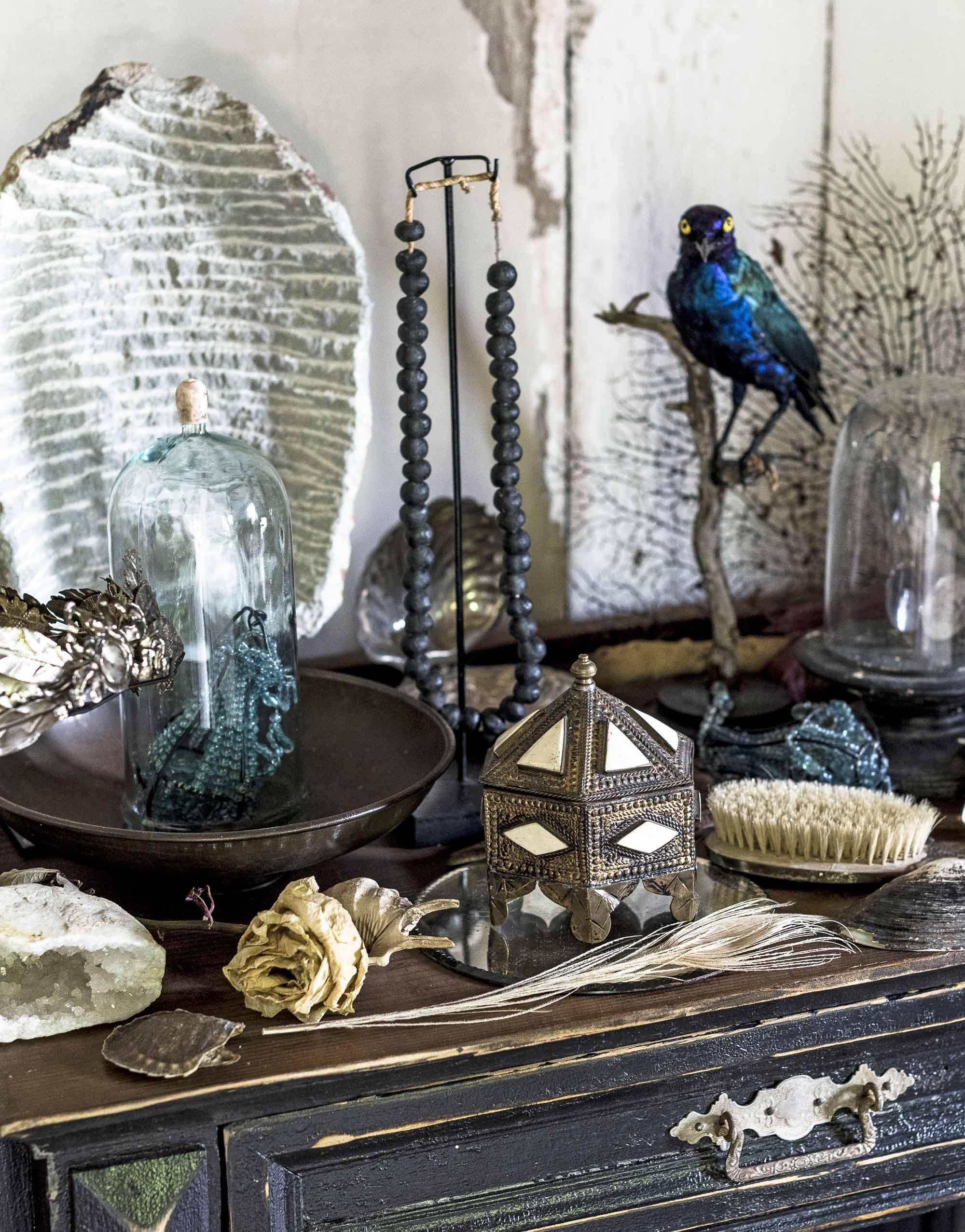 vintage spulletjes blauwe vogel