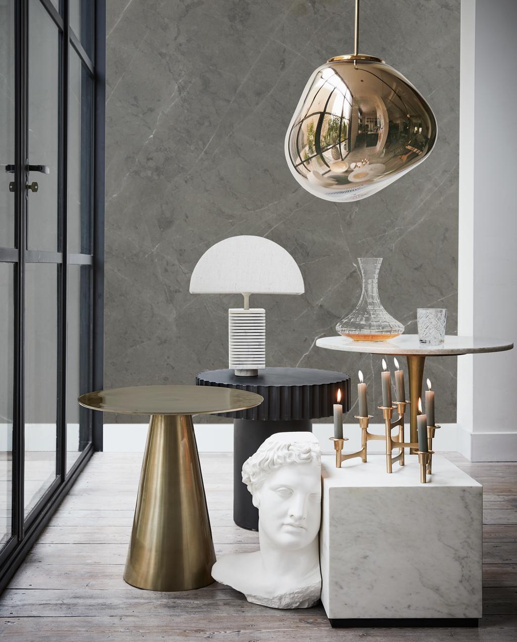 vtwonen 13-2019 | styling Marmer: unieke en chique uitstraling tafel gedecoreerd