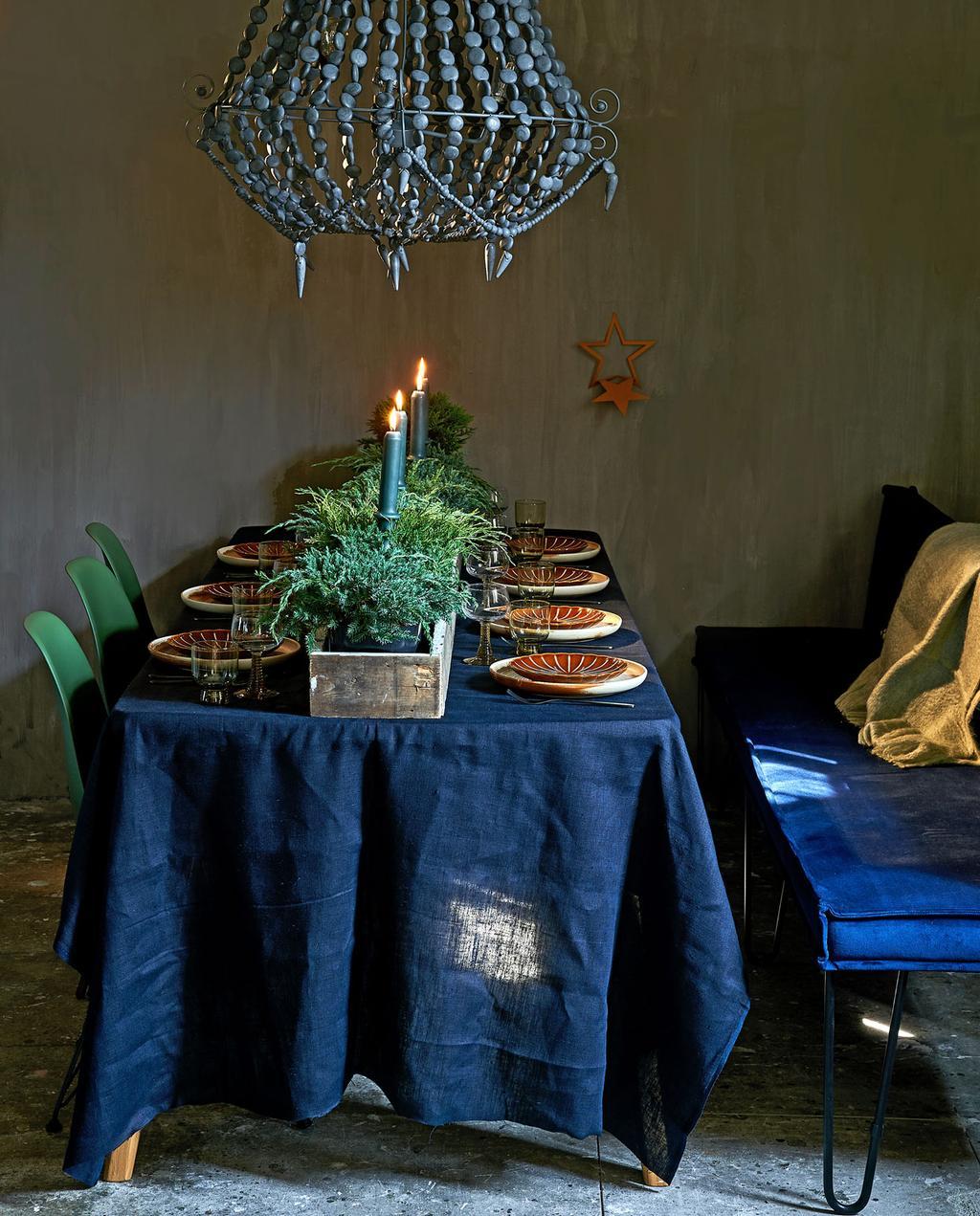 vtwonen 12-2019 | styling kerst eettafel gedekt