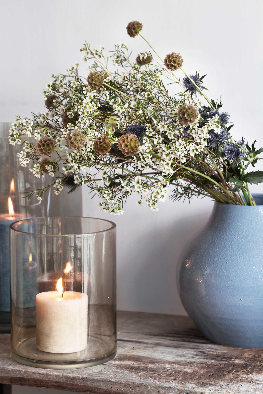 wonen landelijke stijl by j-line bloemen vaas windlicht