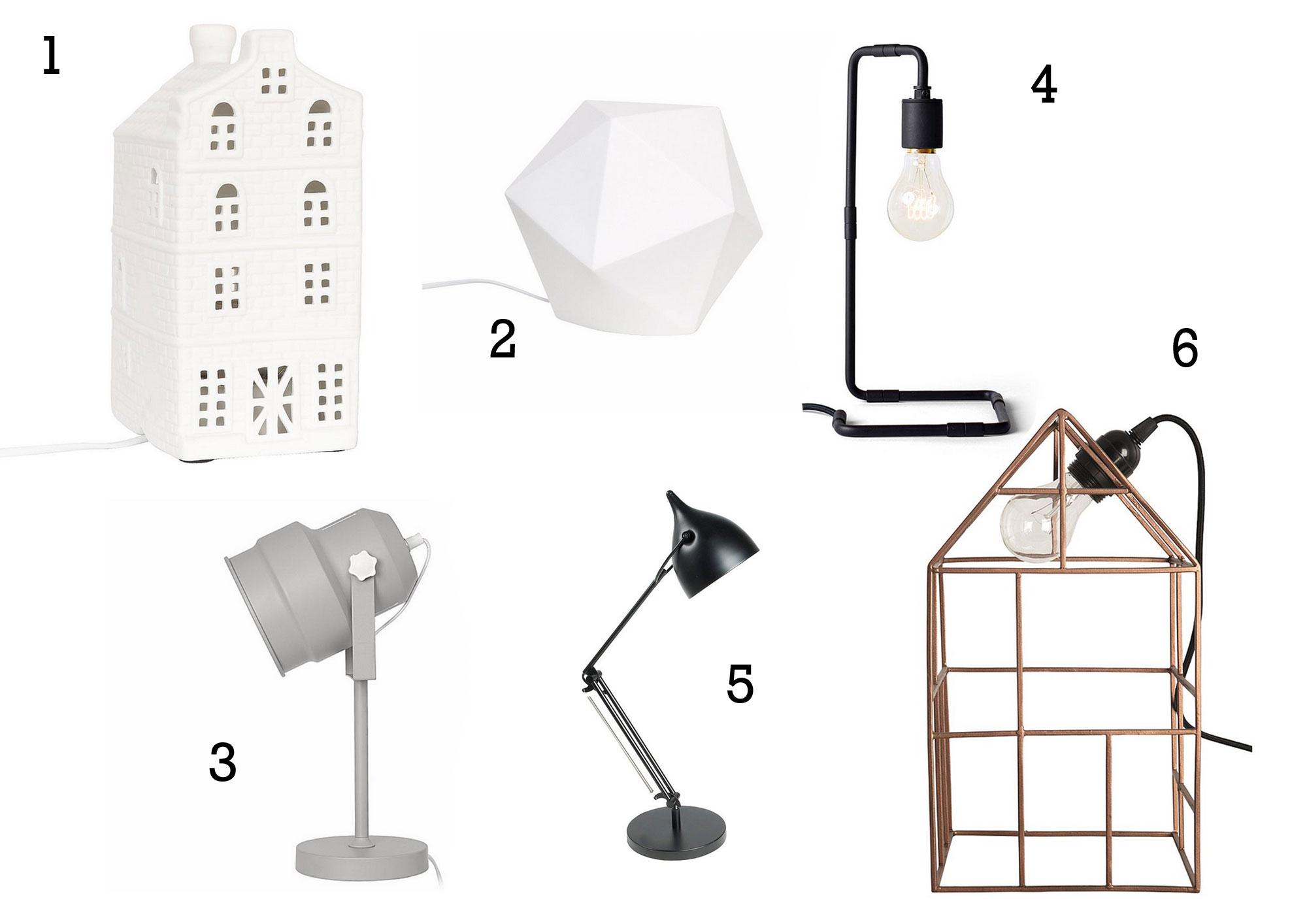 lampen voor op tafel