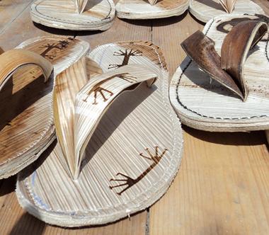slippers van palmleer