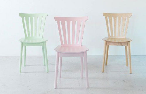 pastel stoelen