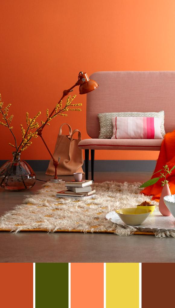 oranje interieur