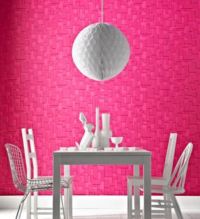 Behang Checker Hot Pink van Superfresco Easy - Mooiste behang 2012