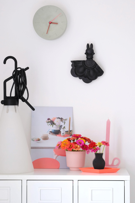 Muurdecoratie zwart konijn