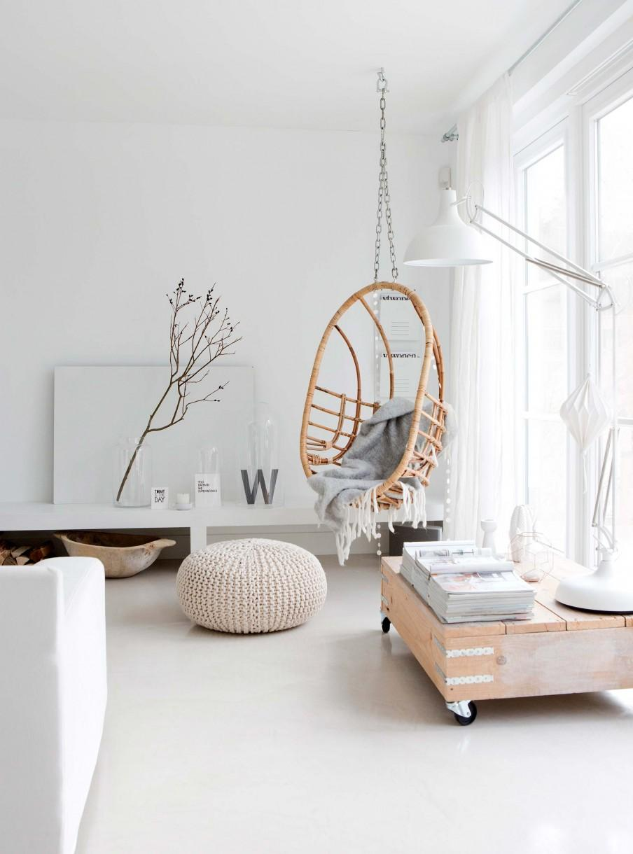 chaise suspendue bois