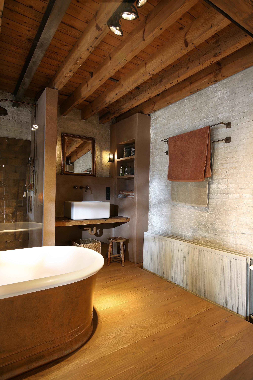 Goud en comfort in de badkamer
