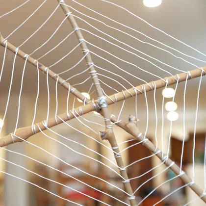 Maak een spinnenweb
