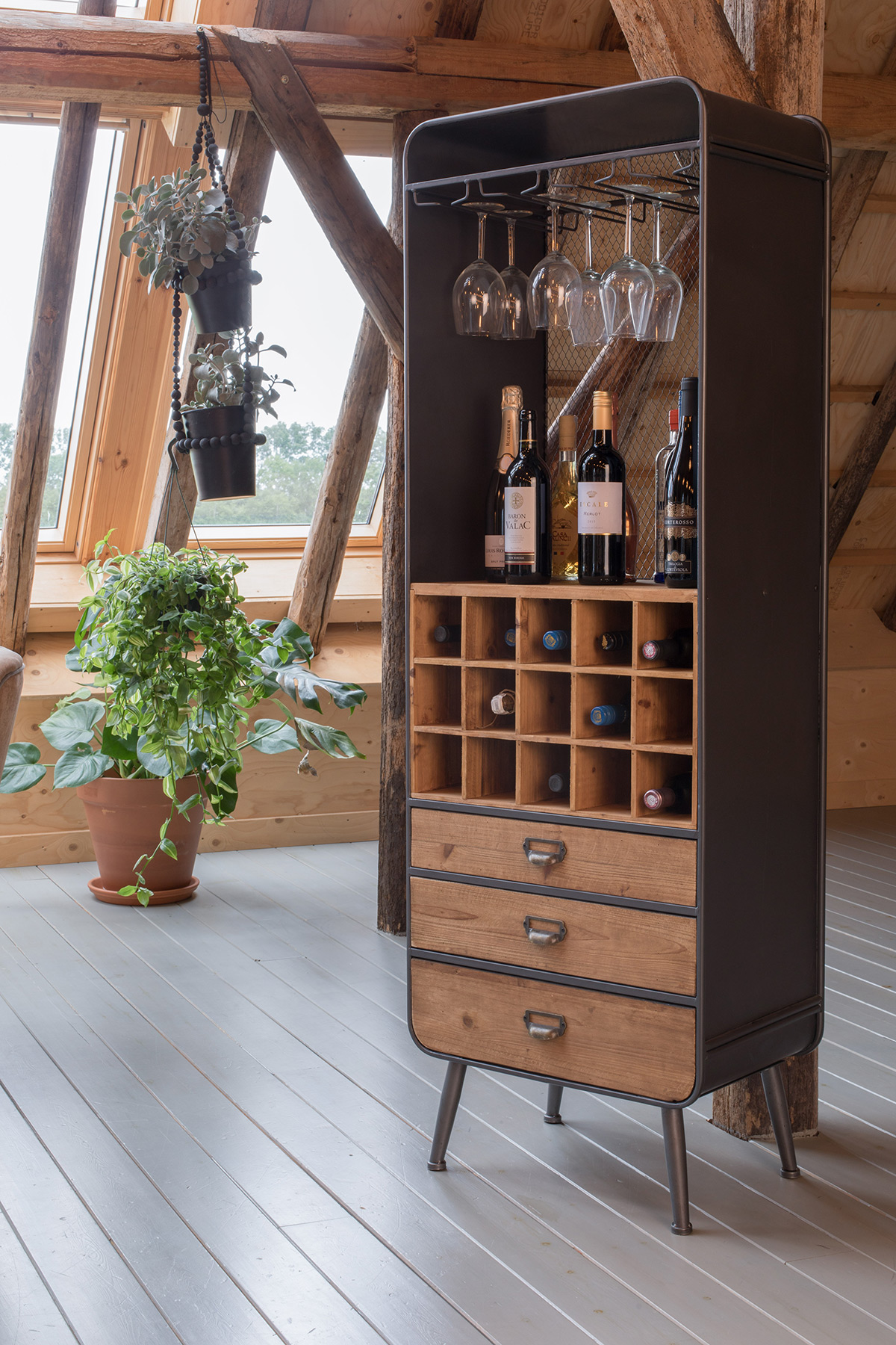 Dutchbone Vino wijnkast