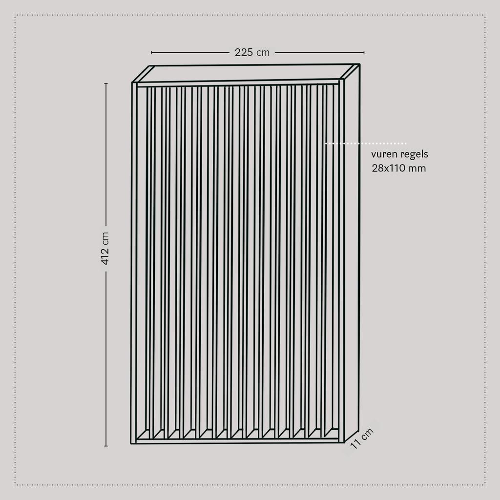 vtwonen 2020 DIY special 01 | bouwtekening room divider