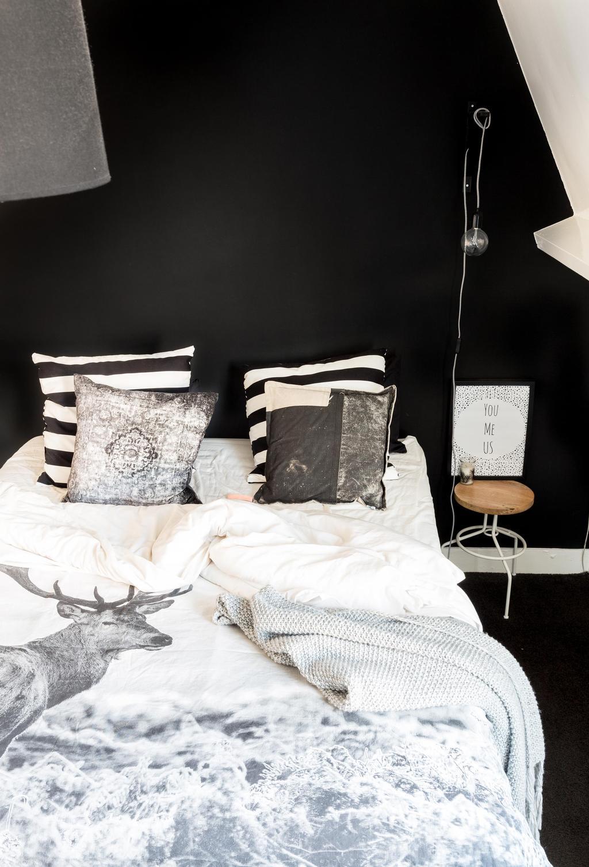 Slaapkamer in zwart