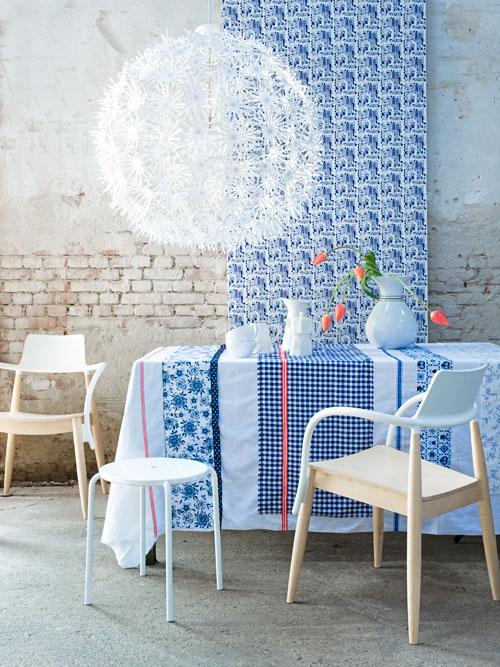 blauw-witte prints