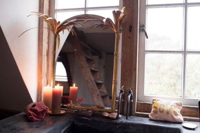 Parisienne - dramatische spiegel met kaarsen
