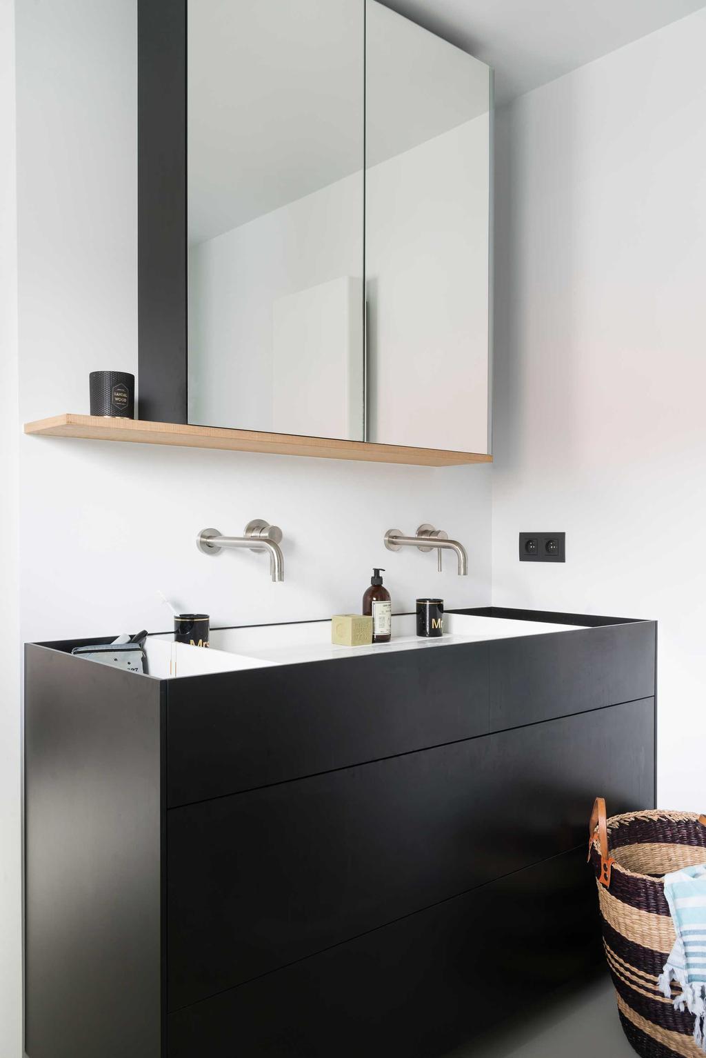 wastafel spiegel zwart
